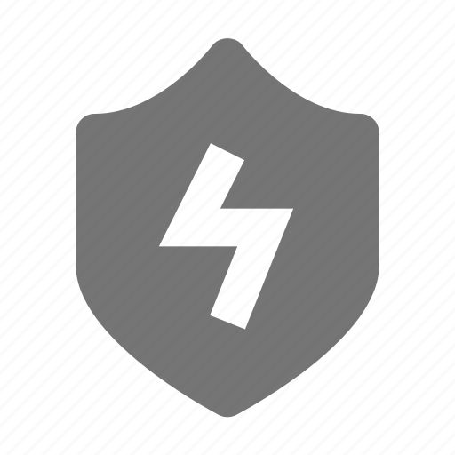 flash, protection, security, shield icon