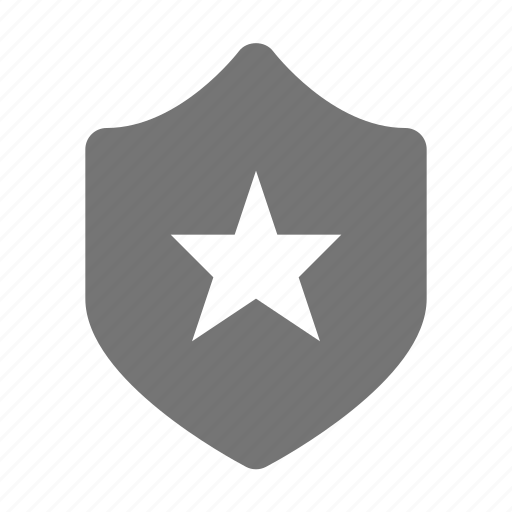 protection, security, shield, star icon