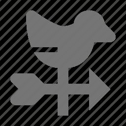 weather, weathervane icon