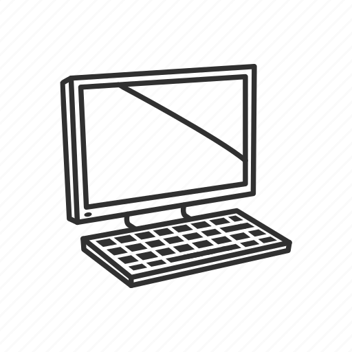 computer, desktop, device, keyboard, monitor, pc, technology icon