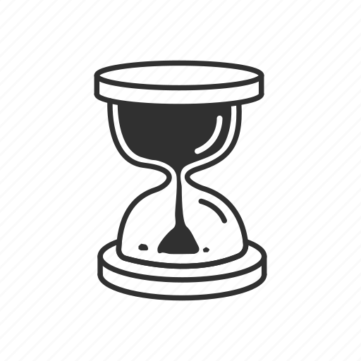glass, hour, hourglass, hourglass full, hourglass with flowing sand, sand, time icon