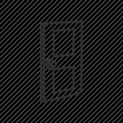 building door, close, close door, door, exit, house, house door icon