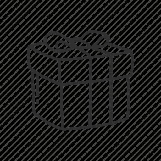 box, gift, gift box, present, present box, ribbon, wrapped box icon