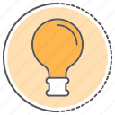 bulb, electric, electricity, energy, idea, lightbulb icon