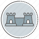 building, castle, fortress, tower icon