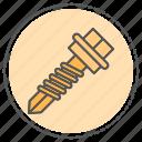 attachment, clothes, fasteners, files, paper, screw icon
