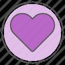 heart, like, love, romance, valentine icon