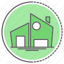 building, estate, home, house, property icon