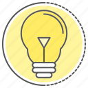 bulb, creative, electric, idea, lamp icon