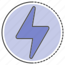 light, lightning, power, storm, thunder icon