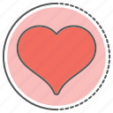 day, heart, love, romance, valentine icon