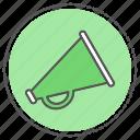 ad, advertise, advertisement, advertising, marketing, megaphone icon