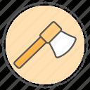 ax, axe, equipment, hatchet, tool, wood icon