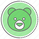 bear, face, teddy, toy icon