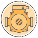 equipment, hydraulics, pumping, tool, water icon