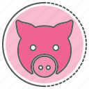 emoji, face, pig, piggy, toy icon