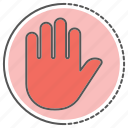 control, gesture, hand, pause, stop icon