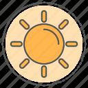 nature, summer, sun, weather icon