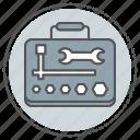 construction, equipment, repair, tools, work, workshop icon
