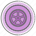car, equipment, gear, parts, transport, wheel icon