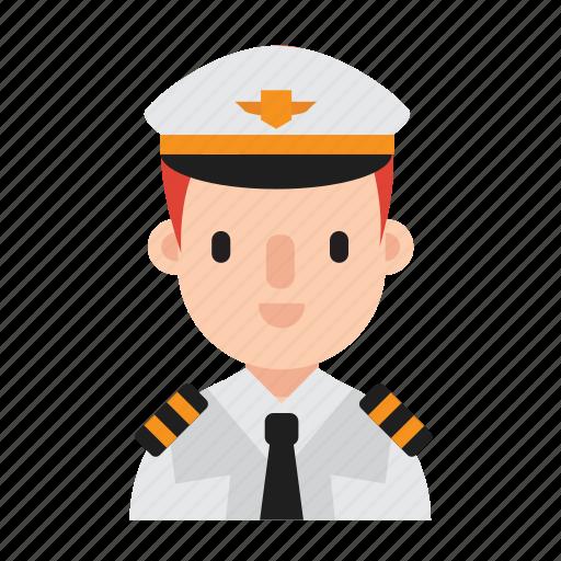 boy, career, costume, job, man, occupation, pilot icon