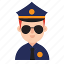 boy, career, costume, job, man, occupation, police icon