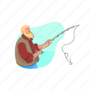 fisher, job, man, occupation, people icon