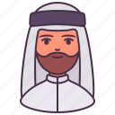 arab, avatar, islam, male, man, people, user icon