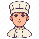 avatar, career, chef, male, man, occupation, people icon
