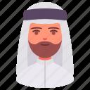arab, avatar, islam, male, man, people, user icon