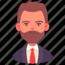 avatar, businessman, career, male, man, occupation, people icon