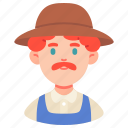 avatar, career, farmer, male, man, occupation, people icon