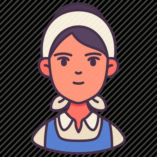 avatar, farm girl, farmer, female, occupation, people, woman icon