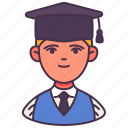 avatar, graduated, male, man, people, student, young