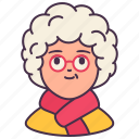 elderly, user, old, female, avatar, people, woman