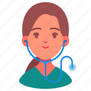 avatar, career, doctor, female, nurse, people, woman icon