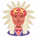 american indian, avatar, history, male, man, people, person icon
