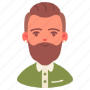 avatar, career, freelancer, hipster, male, man, people icon