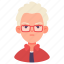 avatar, casual, glasses, man, people, user, young icon
