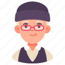 avatar, elderly, man, old, people, senior, user icon