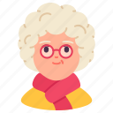 avatar, elderly, female, old, people, user, woman icon