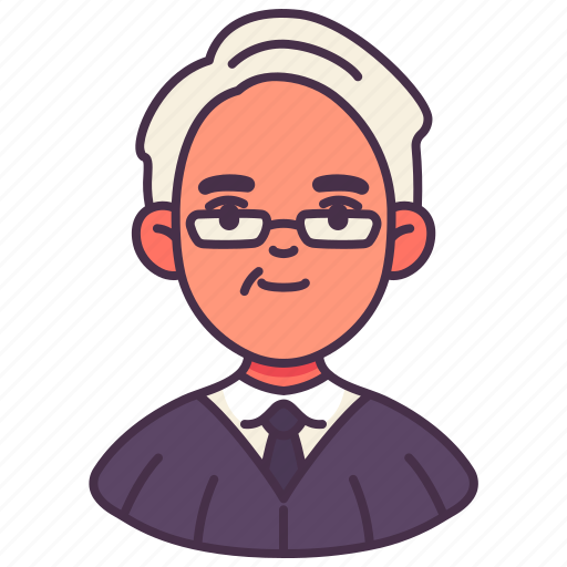 avatar, judge, lawyer, male, occupation, people, person icon