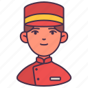 avatar, bellboy, hotel, man, people, person, young