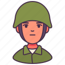 male, people, person, serve, warrior, avatar, soldier icon