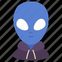 space, explorer, alien, person, avatar, hood, tourist