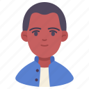 avatar, intelligent, man, people, person, skinhead, student