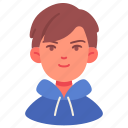 male, boy, people, person, avatar, hood, student
