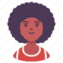 afro, avatar, male, man, people, person, sport