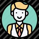 avatar, bartender, boy, businessman, man icon