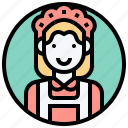 cleaning, housemaid, maid, service, vacuum icon